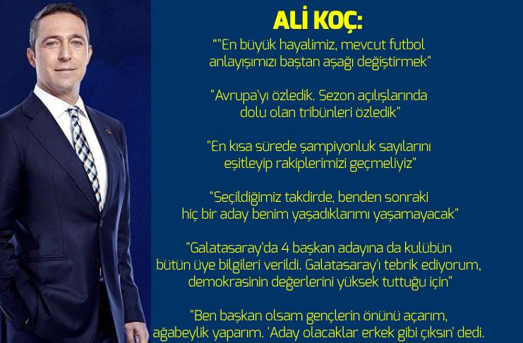 Ali Koç, Bodrum'da konuştu!