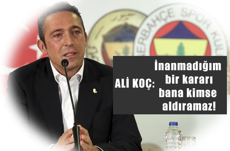Ali Koç: Volkan bana saygısızlık yaptı