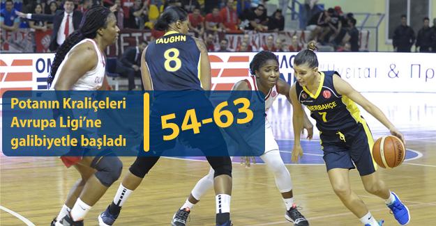 Fenerbahçe, Olympiacos'u deplasmanda devirdi : 54-63