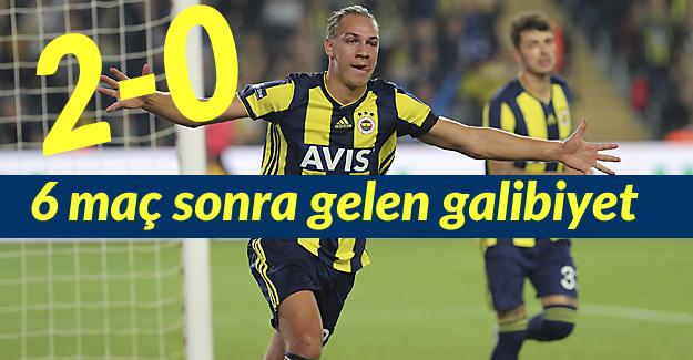 Fenerbahçe ayağa kalktı: 2-0