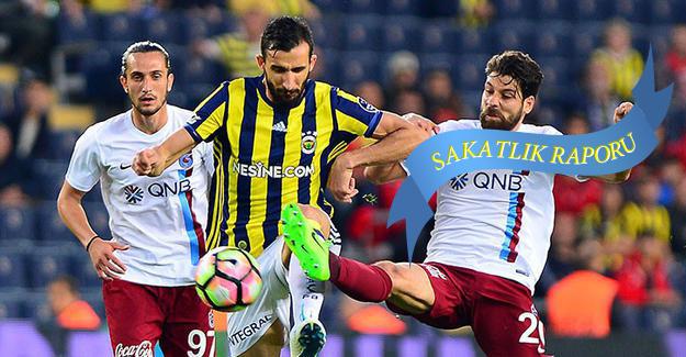 Trabzonspor-Fenerbahçe maçı öncesi sakatların son durumu
