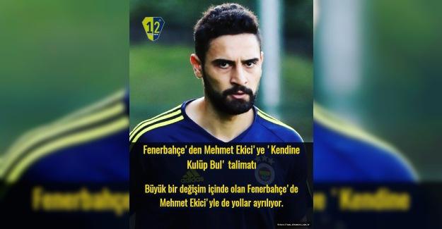 Mehmet Ekici'ye 'Kendine Kulüp Bul' talimatı