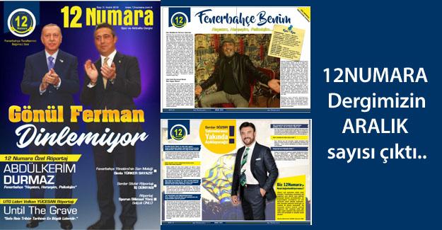 12NUMARA Dergimizin Aralık Sayısı çıktı..