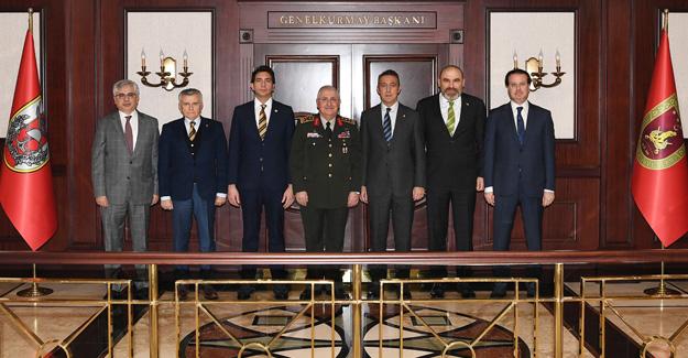 Başkanımız ve Yöneticilerimizden Genelkurmay Başkanımıza ziyaret