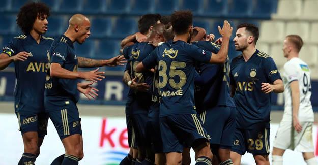 Fenerbahçe 3 puanı 3 golle kazandı