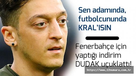 Mesut Özil'in Fenerbahçe için yaptığı indirim belli oldu