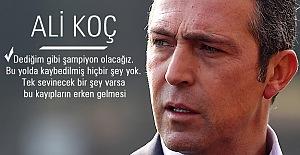 Ali Koç'tan D.G. Sivasspor maçı sonrası açıklamalar