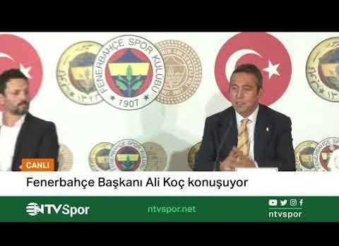 Ali Koç Fenerbahçe teknik direktörü Erol Bulut imza töreninde açıklamalarda bulunuyor